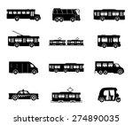 vector icons. public transport. | Shutterstock .eps vector #274890035