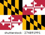 flag of maryland | Shutterstock .eps vector #274891991