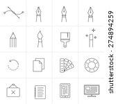 designer tools ii. vector icons ... | Shutterstock .eps vector #274894259