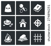 false religion  sect icons.  | Shutterstock . vector #274896251