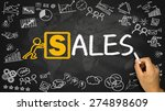 sales concept hand drawing on... | Shutterstock . vector #274898609