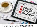 customer relationship... | Shutterstock . vector #274899221