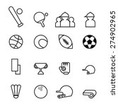 sport icons in thin line style... | Shutterstock .eps vector #274902965
