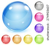 set of multicolored opaque... | Shutterstock . vector #274903607