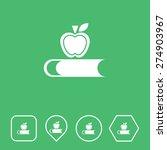 book   apple icon on flat ui...
