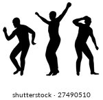 collection of dancing young men.... | Shutterstock .eps vector #27490510