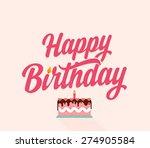 happy birthday flat typographic ...   Shutterstock .eps vector #274905584