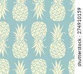 pineapples seamless pattern.... | Shutterstock .eps vector #274910159