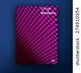 vector brochure   booklet cover ... | Shutterstock .eps vector #274910354
