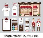 vector buildings restaurant and ... | Shutterstock .eps vector #274911101