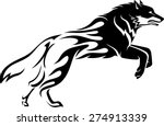 wolf abstract flame tattoo | Shutterstock .eps vector #274913339