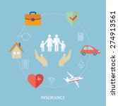 concept for insurance icons.... | Shutterstock .eps vector #274913561