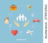 concept for insurance icons.... | Shutterstock .eps vector #274913561