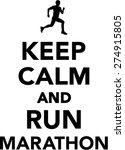 keep calm and run marathon | Shutterstock .eps vector #274915805