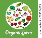 organic farm vector concept | Shutterstock .eps vector #274924229