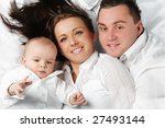 young attractive family with...   Shutterstock . vector #27493144