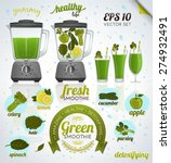 making a healthy detoxifying... | Shutterstock .eps vector #274932491