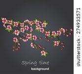 cherry tree background | Shutterstock .eps vector #274933571