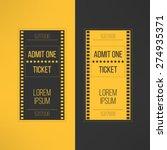 entry cinema ticket in film... | Shutterstock .eps vector #274935371