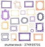 hand drawn photoframes. doodle... | Shutterstock .eps vector #274935731