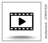 video sign icon  vector... | Shutterstock .eps vector #274937525