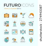 line icons with flat design... | Shutterstock .eps vector #274943387
