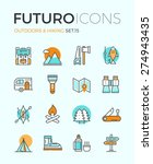 line icons with flat design... | Shutterstock .eps vector #274943435