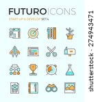 line icons with flat design... | Shutterstock .eps vector #274943471