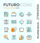 line icons with flat design... | Shutterstock .eps vector #274943504