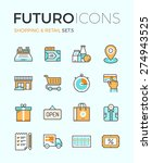 line icons with flat design... | Shutterstock .eps vector #274943525