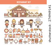 food and restaurant infographic ... | Shutterstock .eps vector #274949141