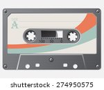 old school retro cassette with... | Shutterstock .eps vector #274950575