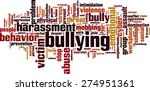 bullying word cloud concept.... | Shutterstock .eps vector #274951361