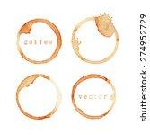 wine stain. wine glass mark... | Shutterstock .eps vector #274952729