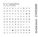 universal icon set | Shutterstock .eps vector #274953089