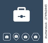 suitcase icon on flat ui colors ...