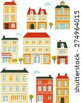 set of city buildings and... | Shutterstock .eps vector #274964015