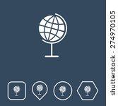 globe icon on flat ui colors...