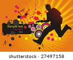 abstract background with a... | Shutterstock .eps vector #27497158