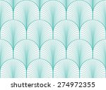 vintage mint and white seamless ... | Shutterstock .eps vector #274972355
