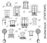 set of retro windows isolated... | Shutterstock .eps vector #274974491