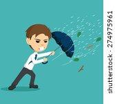 businessman holding an umbrella ... | Shutterstock .eps vector #274975961