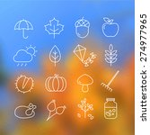 collection of autumn icons  ... | Shutterstock .eps vector #274977965