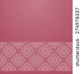 vector ornate background with... | Shutterstock .eps vector #274978337
