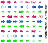 different arrows indicate the... | Shutterstock .eps vector #274980509