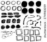 set of black grunge brush... | Shutterstock .eps vector #274983059