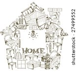 home   vector | Shutterstock .eps vector #27499552
