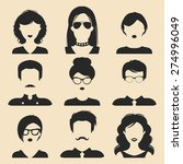 vector set of different male... | Shutterstock .eps vector #274996049