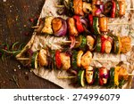 skewers of grilled meat and... | Shutterstock . vector #274996079