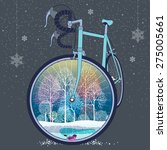 front wheel of bicycle as a... | Shutterstock .eps vector #275005661